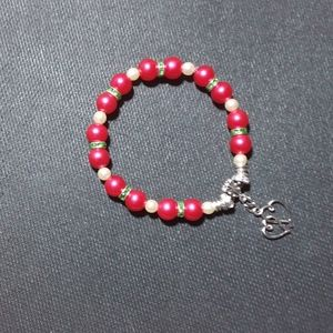 unbranded Jewelry - 7 inch Bracelet Glass pink and white pearls
